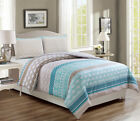 Estero Teal/Taupe Reversible Comforter Set image
