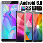 "S9 Unlocked 5.7"" Big Screen Ips Smartphone Dual Sim Android6.0 Mobile Phone Gps"