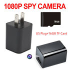 Mini HD 1080P Hidden SPY Camera USB Wall Charger Home Security Video Recorder US