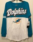 New $44 Miami Dolphins Women's Long Sleeve Shirt Blue White NFL Football Medium on eBay