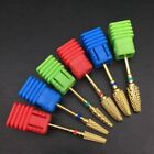 Carbide Rotary Nail Drill Bit Gold Smooth Round Top For Nail Art Salon Manicure