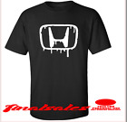 HONDA MEN'S SIZE TEE T-SHIRT NEW BLACK WITH WHITE  LOGO  FREE SHIPPING #001 image