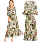 Womens Floral Print Maxi Dress for Outdoor and Causal Events Clearance Sales