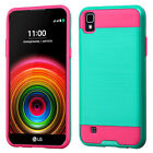 For LG K6 (X Power) Brushed Impact Hybrid Armor Protector Cover Case