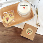 Внешний вид - 60X Thank You Stickers Kraft Mini DIY with Heart Round Gift Lables Party Favour