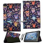 For Amazon Kindle Fire 7 / HD 8 / HD10 With Alexa Smart Leather Stand Cover Case