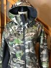 UNDER ARMOUR FOREST CAMO STORM MID SEASON HOODIE WOMEN FULL ZIP SIZE L NWT $159