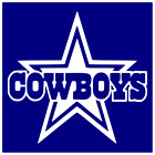 "Dallas Cowboys Star Logo Vinyl Decal Sticker For 8"" Glass Block Diy Crafts"