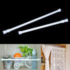 White & Gold Spring Heavy duty Tension Curtain Rods Adjustable Width ALL SIZES