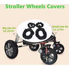 2Pcs Baby Kids Stroller Pram Anti Dirty From Floor Wheel Black Cover AccessorySC