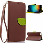 Flip Magnetic Wallet leaf PU leather slot stand Silicone soft phone cover case M