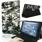 Leather Stand Cover Case + Bluetooth Keyboard For Amazon Kindle Fire HD 10 Alexa