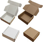 "WHITE OR BROWN SHIPPING CARDBOARD BOXES POSTAL MAILING GIFT PACKET SMALL PARCEL <br/> 5x4x3"" 6x6x2 7x5x2 8x4x4 10x7x3 12x9x4 15x11x5 17x13x6"""