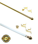 Heavy Duty Cafe Standard Adjustable Curtain Rod Hardware Included Gold