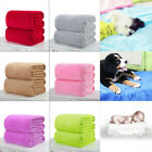 Soft Solid Warm Micro Flannel Throw Blanket Rug Plush Fleece Bed Quilt Sofa Home image