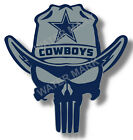 Dallas Cowboys Punisher NFL Sticker, Decal Vinyl Truck Car window Pro football $4.00 USD on eBay