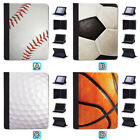 Football Golf Baseball Leather Case For iPad 1 2 3 4 Mini Air Pro 9.7 10.5 12.9