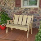 A&l Furniture Co. Blue Mountain Timberland Garden Benches - 3 Sizes & 4 Finishes