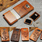 100% Natural Wooden Wood Phone Case Cover for Samsung S10 S10E S9 Note 8 10 Plus