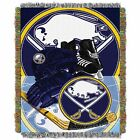 """Sabres OFFICIAL National Hockey League, """"Home Ice Advantage"""" 48""""x 60"""" Woven Tape $37.99 USD on eBay"""