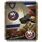 """Islanders OFFICIAL National Hockey League, """"Vintage"""" 48""""x 60"""" Woven Tapestry Thr $37.99 USD on eBay"""