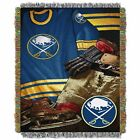 """Sabres OFFICIAL National Hockey League, """"Vintage"""" 48""""x 60"""" Woven Tapestry Throw $37.99 USD on eBay"""