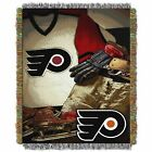 """Flyers OFFICIAL National Hockey League, """"Vintage"""" 48""""x 60"""" Woven Tapestry Throw $37.99 USD on eBay"""
