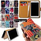 Leather Wallet Stand Flip Case Cover For Various SmartPhones