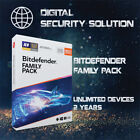 Bitdefender Family Pack 2020 1,2,3,4&5 Years, Unlimited Devices + Service Plan
