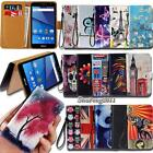 Leather Wallet Card Stand Flip Case Cover For Various BLU SmartPhones + Strap