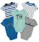 Внешний вид - Nautica Infant Boys 5 Pack Blue & Gray Bodysuits Size 0/3M 3/6M 6/9M $42