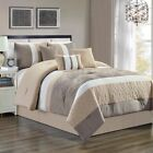7 Piece Delano Taupe Comforter Set image