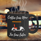 Golf Mug Coffee time now Tee time Later Funny Novelty Cup  Gift for Men   Cerami