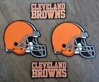 Iron On or Sew On Transfer Applique Cleveland Browns Cotton Fabric Patches $5.49 USD on eBay