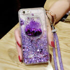 Dynamic Liquid Glitter Quicksand Soft bumper back Phone Case Cover & Lanyard #I