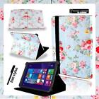 For Various Argos Alba 7 8 10 Tablet - Folio Stand Leather Cover Case + Stylus