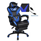 Executive High Back Office Gaming Chair Racing Computer Seat PU Leather Footrest