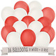 16/20/50 Red&White Air&Helium Balloon Love Color Theme Party Decoration BALLOONS