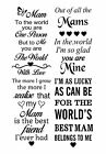 Mam Mammy Vinyl Decal For Wine Bottle,vase,glass,wood And More!