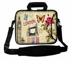 "10"" - 17"" LUXBURG Laptop Case Bag Cover Pouch Skin With Handle & Shoulder Strap"