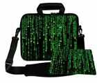 """LUXBURG 10""""- 17"""" Inches Laptop Sleeve With Shoulder Strap & handle with Mousepad"""
