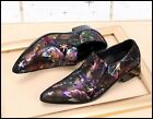 Multi-color Mens Lether Pointy Toe Loafers Slip On Breath Wedding Dress Shoes