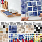 Mosaic Sticker Tiles Self-adhesive Waterproof Kitchen Bathroom Wall Home Decor
