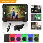 Shockproof Protective Cover Case With Hand Strap Kickstand for iPad Mini 1/2/3