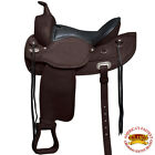 HILASON WESTERN DRAFT HORSE SADDLE WIDE GULLET TRAIL PLEASURE ENDURANCE BROWN U-