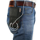 Mens Leather Waist Bag Cell Phone Belt Pouch Wallet Case Card Clip Fanny Pack