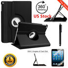 360 Rotating Folio PU Leather Case Smart Stand Cover For Apple iPad 2 3 4