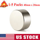 1-5PCS Large 40mm x 20mm Neodymium Rare Earth Magnet Big Super Strong Huge N52 for sale  Baldwin Park
