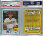 2017 Topps Heritage Minor League Edition Blue 157 Harrison Bader PSA 9 MINT Card