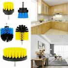 3Pcs Electric Drill Brush Car Carpet Washroom Leather Dust Dirty Cleaning Home